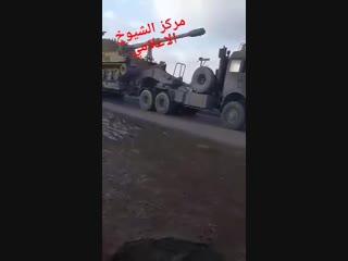 Турецкая техника заходит в турко-зеленый анклав под Джараблусом (22 декабря 2018) :