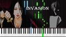 Bleach - Invasion (Sagisu Shiro) Synthesia Piano Tutorial by Iwan Hoffman (100% 2018)
