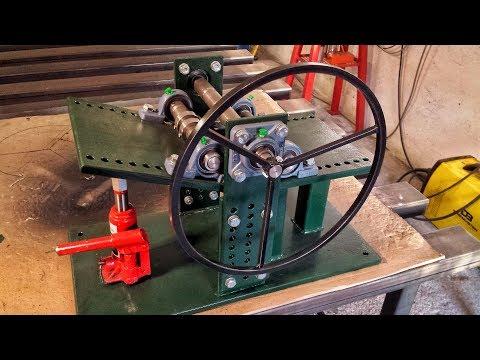 Rollenbiegemaschine selber bauen Biegemaschine Biegegerät