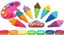 Пластилин Плей До Лепим Мороженое Учим цвета Английский для детей