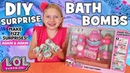 DIY Bath Fizzies with LOL Surprise Doll Fizz Factory!