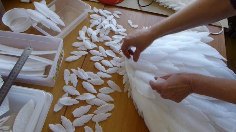 Как сделать Крылья Ангела Часть 3