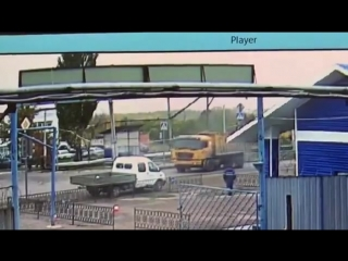 Момент наезда на пешехода в г. Салавате 09.10.2018г.