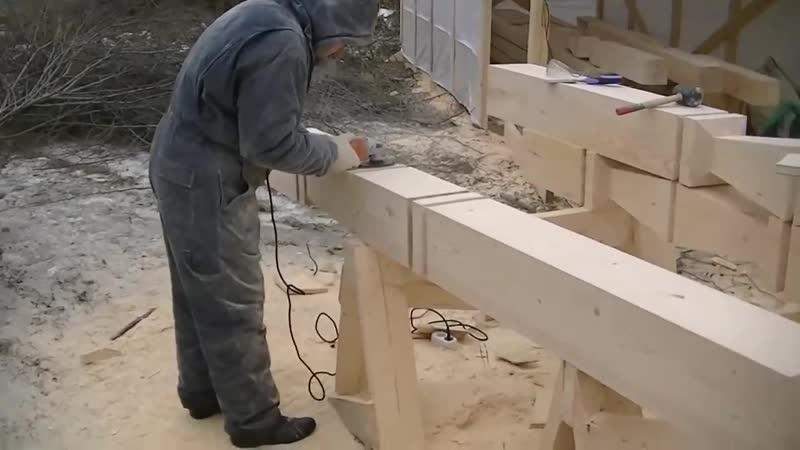 Резной столб -работа профи - Строим дом своими руками