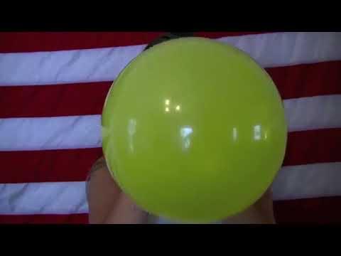 Girl blow up Balloon