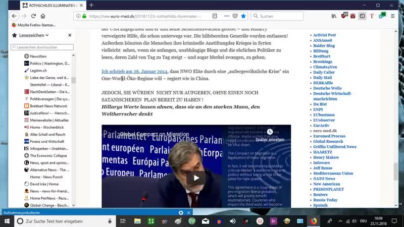 "23.11.18 ROTHSCHILDS ILLUMINATEN KAPITULIEREN: ""STOPPT EINWANDERUNG NACH EUROPA - Vereinigte Scharfschützen Bewegung"