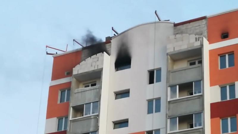 Пожар в Гомеле 20.06.2018 (от подписчика)