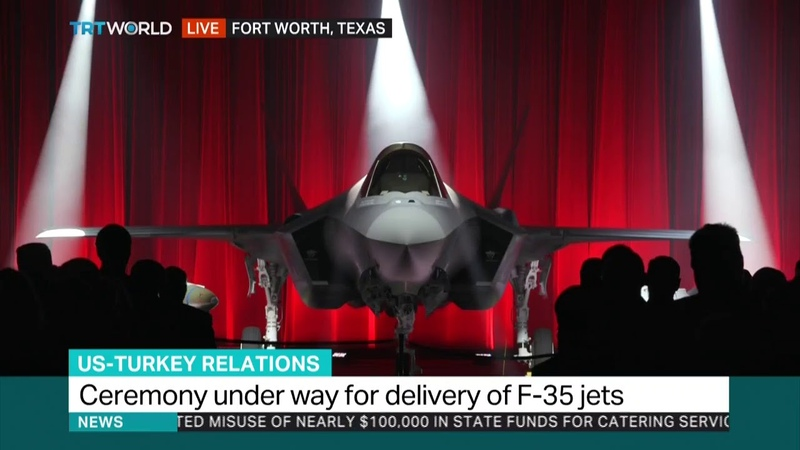 US delivers first of 30 F-35 jets to Turkey in a ceremony