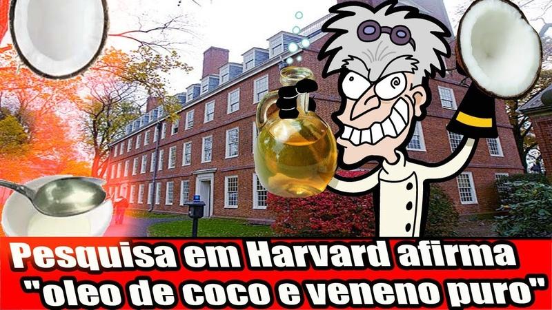 Pesquisa em Harvard afirma óleo de coco e veneno puro
