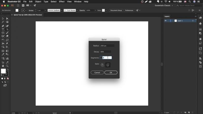 Как сделать спираль в иллюстраторе - Spiral Tool _ Урок Adobe Illustrator