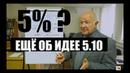 5% с продаж или с оборота ЕЩЁ ОБ ИДЕЕ 5 10 Неизвестная экономика