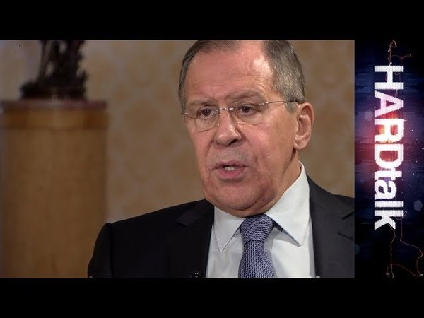 Russias Foreign Minister Sergey Lavrov - BBC HARDtalk rushes