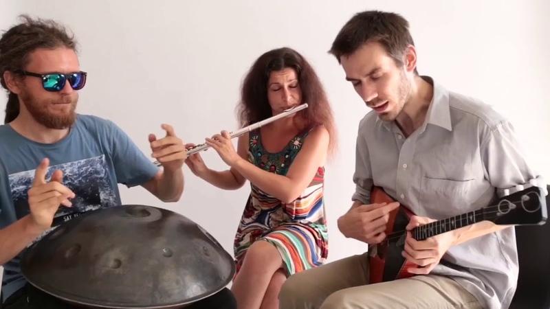 Ethno Reggae Jam - OMana Handpan, Flute, Balalaika - 3 pandas the Moon