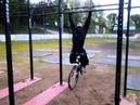 Подтягивания с велосипедом