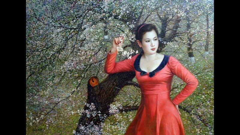 Женские образы в живописи художников КНДР