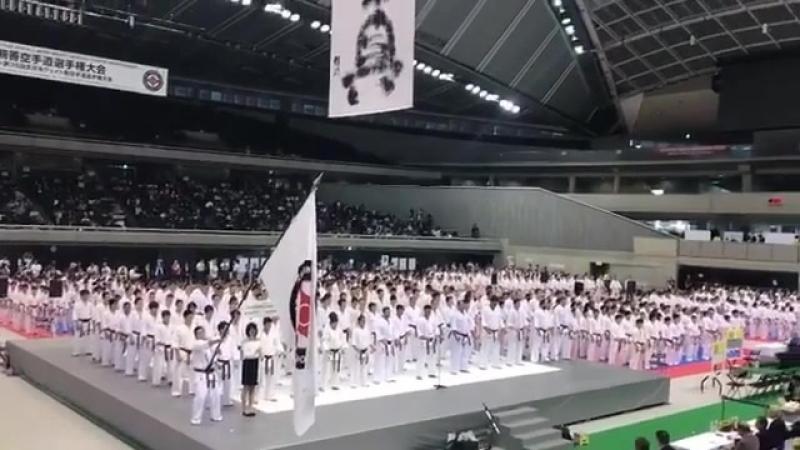 Торжественное открытие. International Karate friendship 2018 The 35th All Japan Weight Category Karate Championships