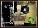 Como realizar un jarron de carton. 2da. parte.How to make a vase of cardboard 2da.. part
