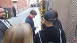 Ben McKenzie signing autographs outside of the Jimmy Kimmel Live studio in Hollywood