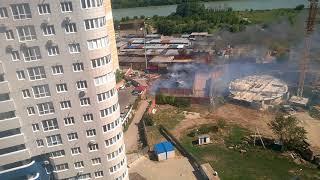 Пожар в гаражах рядом с ЖК Фонтаны и ЖК Южный парк, Краснодар, 15 августа 2018 - часть 2