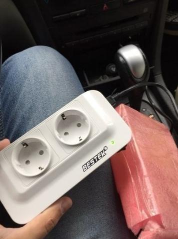 Инвертор на 2 розетки в авто