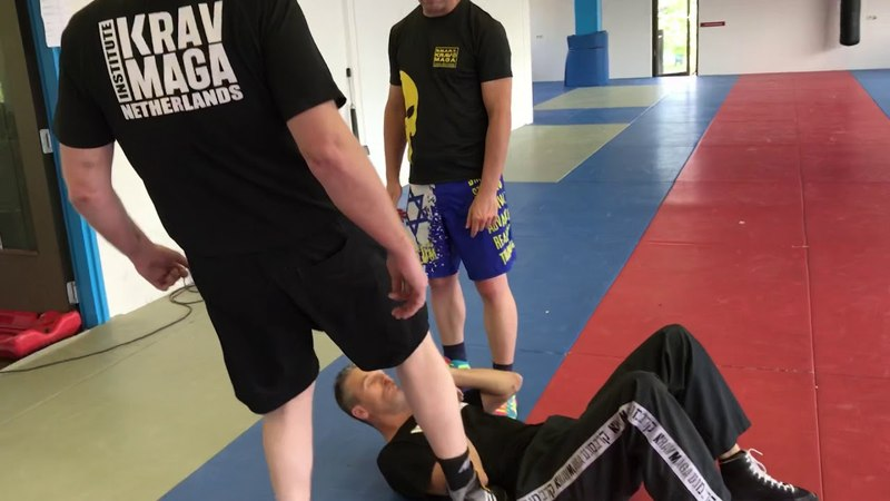 Defending against multiple attackers on the ground. With Amnon Darsa at Expert Camp, IKMN.