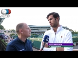 Karen Khachanov Interview Wimbledon 3R