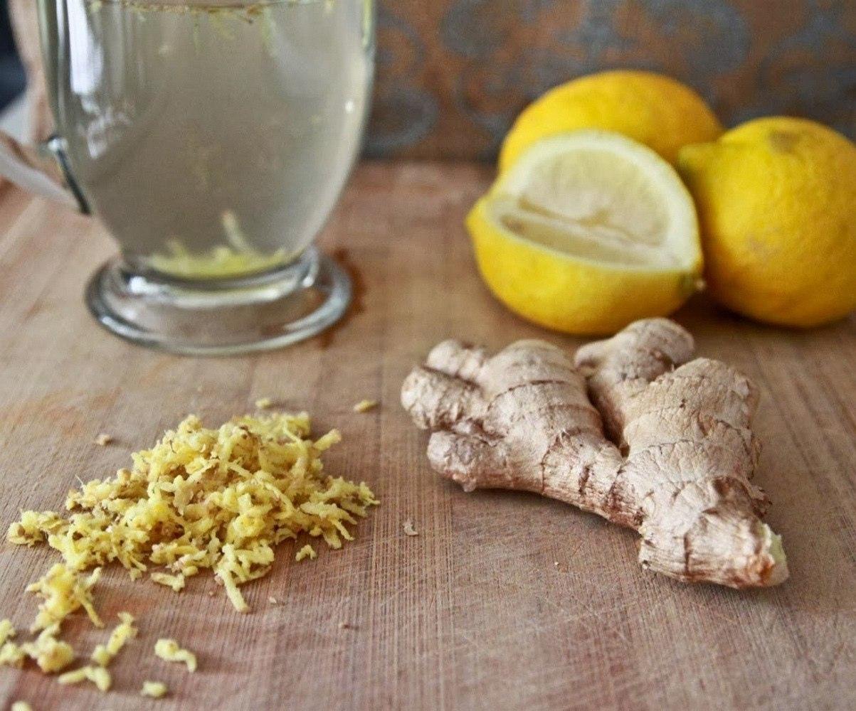 Лимон имбирь и вода для похудения фото