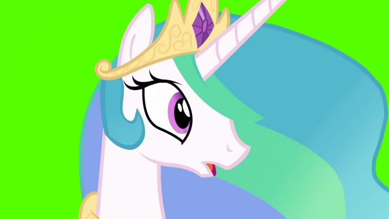 Celestia Shocked - Green Screen Ponies.mp4