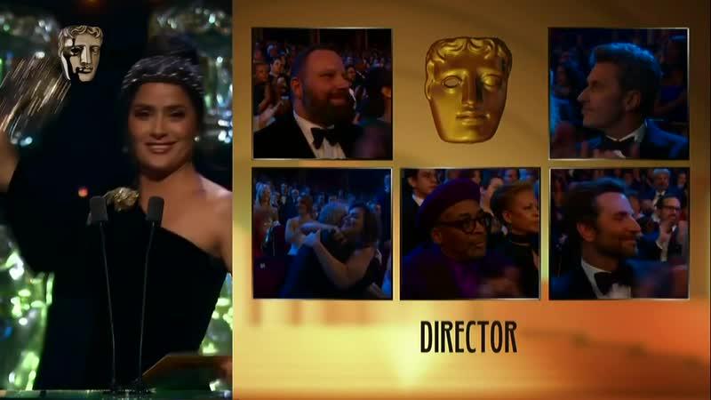 Сальма Хайек на церемонии вручения премии «BAFTA–2019»