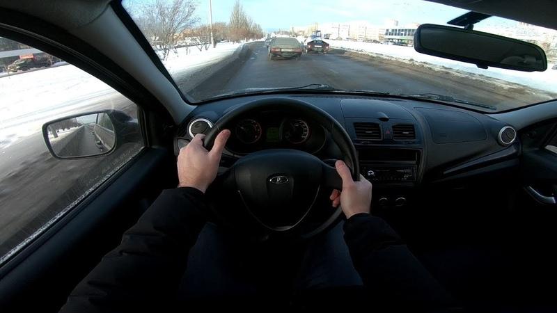 2013 LADA KALINA 1.6L (87HP) POV CITY DRIVE