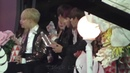 161119 BTS Jin gives his water bottle to GFRIEND Sowon @ MMA 2016