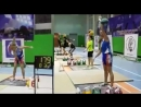 Olga Yaryomenko 209 reps in snatch with the 24 kg kettlebell front and si