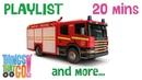 FIRE TRUCK and more | 20min Truck Playlist for Kids. Preschool Kindergarten learning.