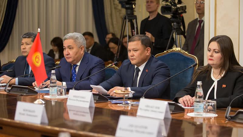 Встреча Валентины Матвиенко с председателем Киргизского парламента