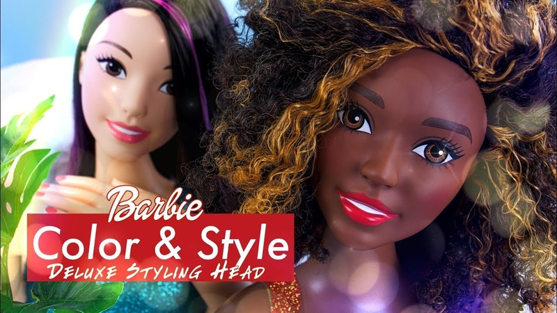 Unbox Daily: Barbie Color Style Deluxe Styling Head PLUS Fabulous NEW Curly Hair Texture
