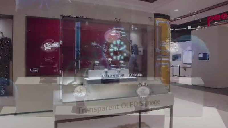 OLED 55 Transparent Display Digital Signage Robot Moda robotmoda oled 55 transparent display digital signage robot moda rob