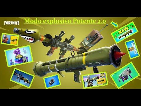 Fortnite novo modo Explosivos Potentes 2.0