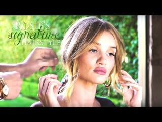 Hair tutorial: rosie huntington-whiteley's secret ponytail trick (rus sub)