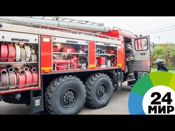 В Омске пожарные потушили пламя на тысяче квадратных метров МИР 24