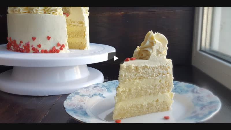 ТОРТ БЕЛЫЙ БАРХАТ | Больше рецептов в группе Десертомания
