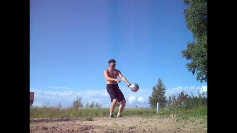 Ежедневная 20 минутная зарядка силового жонглёра гирями. Леонид Синцов.