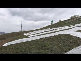 Надпись «Карина» навела шум в Красноярске — видно со всего города