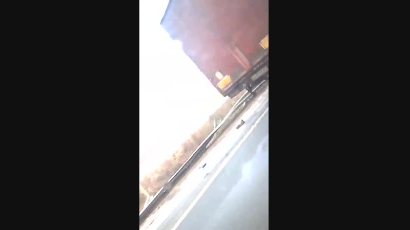 авария с тремя фурами на обводной трассе