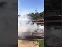 Тушение пожара в гаражном комплексе в Чебоксарах