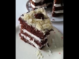 Кофейно-банановый торт