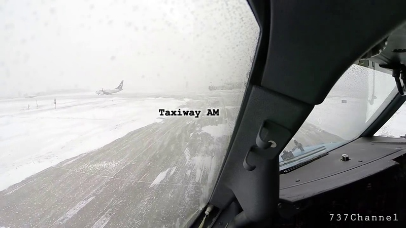 Boeing 737 takeoff in snowstorm HD cockpit view ATC audio Episode 18