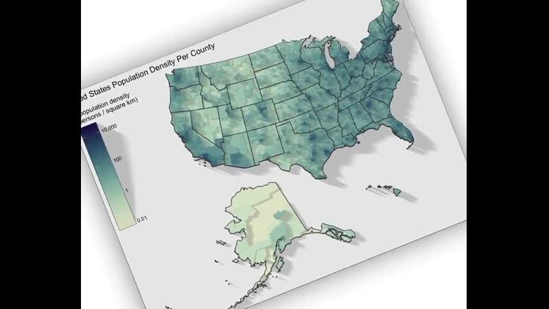 This animated map shows the population density in the US