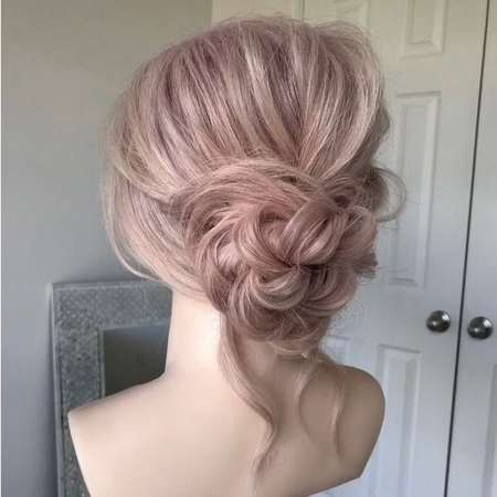"""Heather Chapman Hair on Instagram: """"Prep braid pin 🐇🎩 Updos don't have to be complex, just prepped well. Products: @sexyhair Volumizing Hair Po..."""