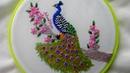Hand Embroidery: Peacock   Bordados a mano: Pavo Real   Artesd'Olga