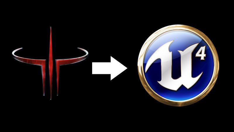 Порт Quake 3 карт через макс в Unreal Engine 4
